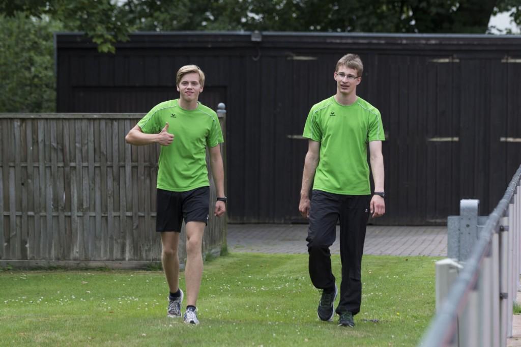 Dreifache Sieger in ihren jeweiligen Altersklassen (von Links): Marvin Simon und Christian Goltze. (Foto: Dennis Brinkmann)